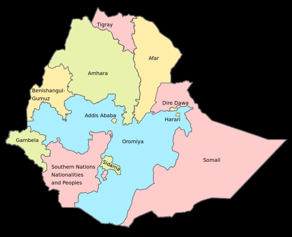 map of amhara 1